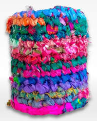 colorful crochet covered jar