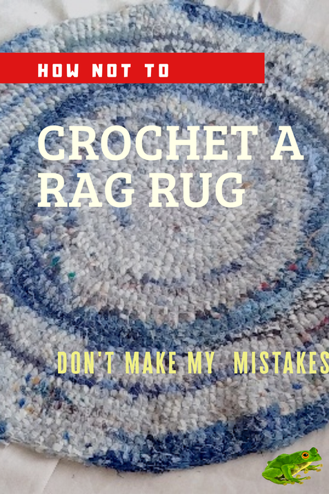 round crochet rug that will not lay flat because of ruffling at edges and an uneven striping pattern