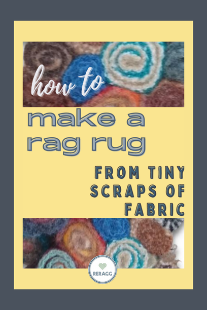 how to use tiny fabric scraps to make a rag rug