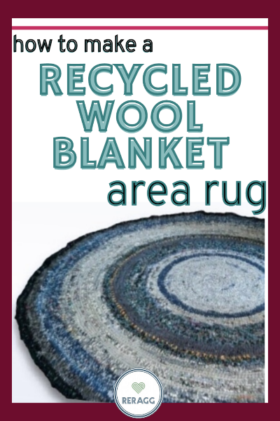 how to make a recycled wool blanket area rug