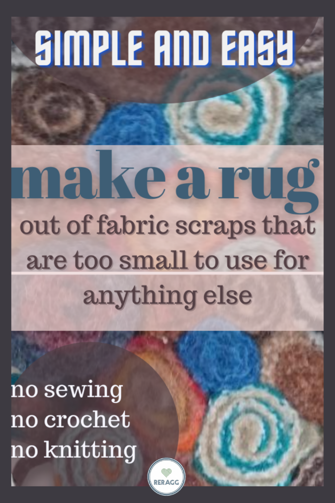 how to make a rag rug from scrap fabric for beginners